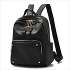 2018 Wholesale Nice Smart Back Pack College School Bags Black PU Leather Women Backpack For Women