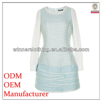 Custom fashion classic sweet light blue lolita dress