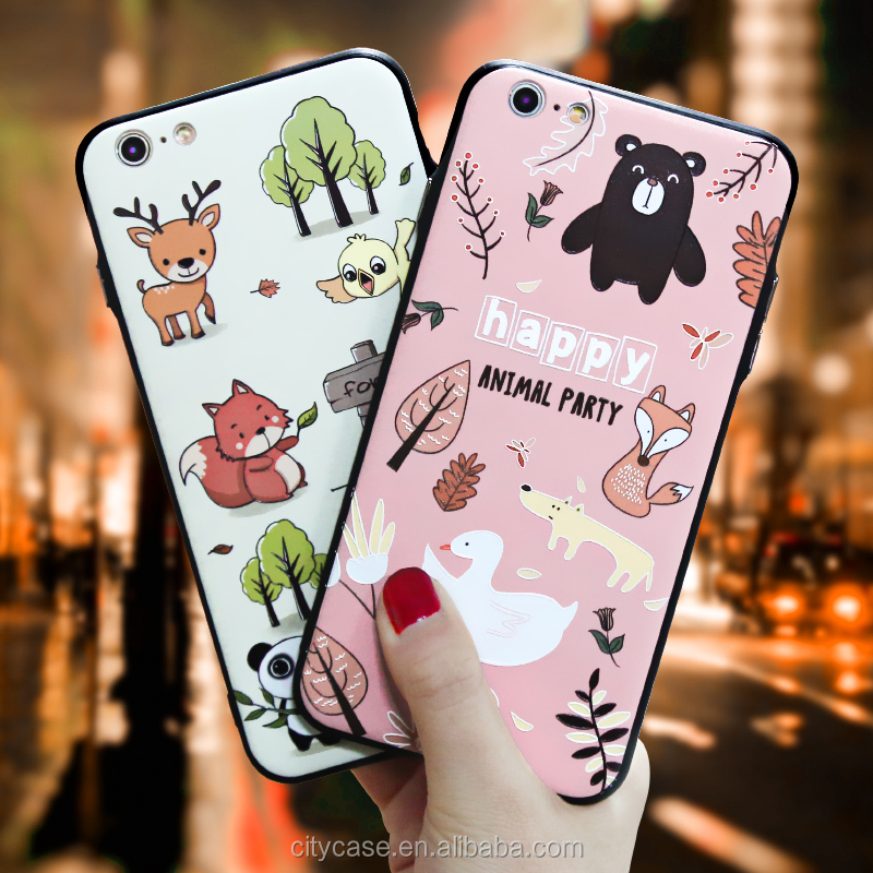 CITYCASE Factory Price fashion design for iphone 6case , Korea style animal paty case for iphone 6s