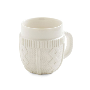 Creative design white ceramic sweater cup