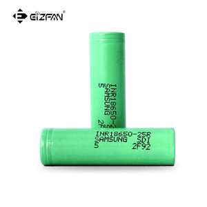 Wholesale free sample 18650 INR 25R 2500mAh 20A 3.7v rechargeable battery for ecig mods
