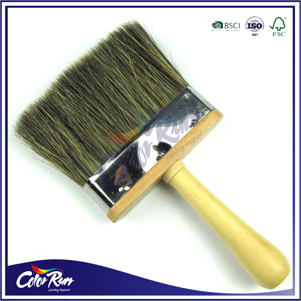 ColorRun Clear Polished Wooden Handle Natural Bristle Dust Brush