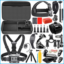 17 All-in-1 Chest Head Wrist Helmet Strap Monopod Floating Floaty Case Accessories Kit for Gopro