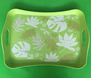 Rectangular Customized Serving Tray Cork Tray service plate melamine tray for serving in food safe material