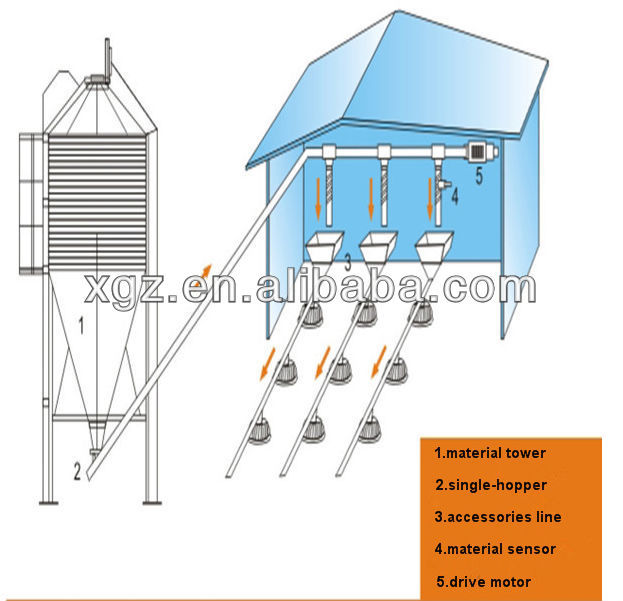 Prefab Building Steel Structure Poultry Farm Layer Chicken Egg House