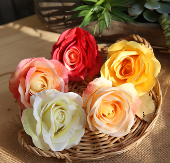 cheap wholesale preserved simulate artificial silk rose flower head
