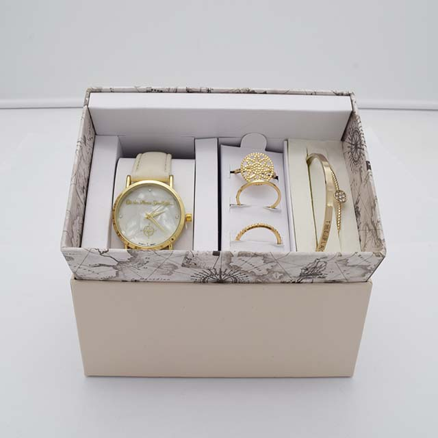 Beautiful Ladies Watch Gift Set For Promotion Business With European Style Box