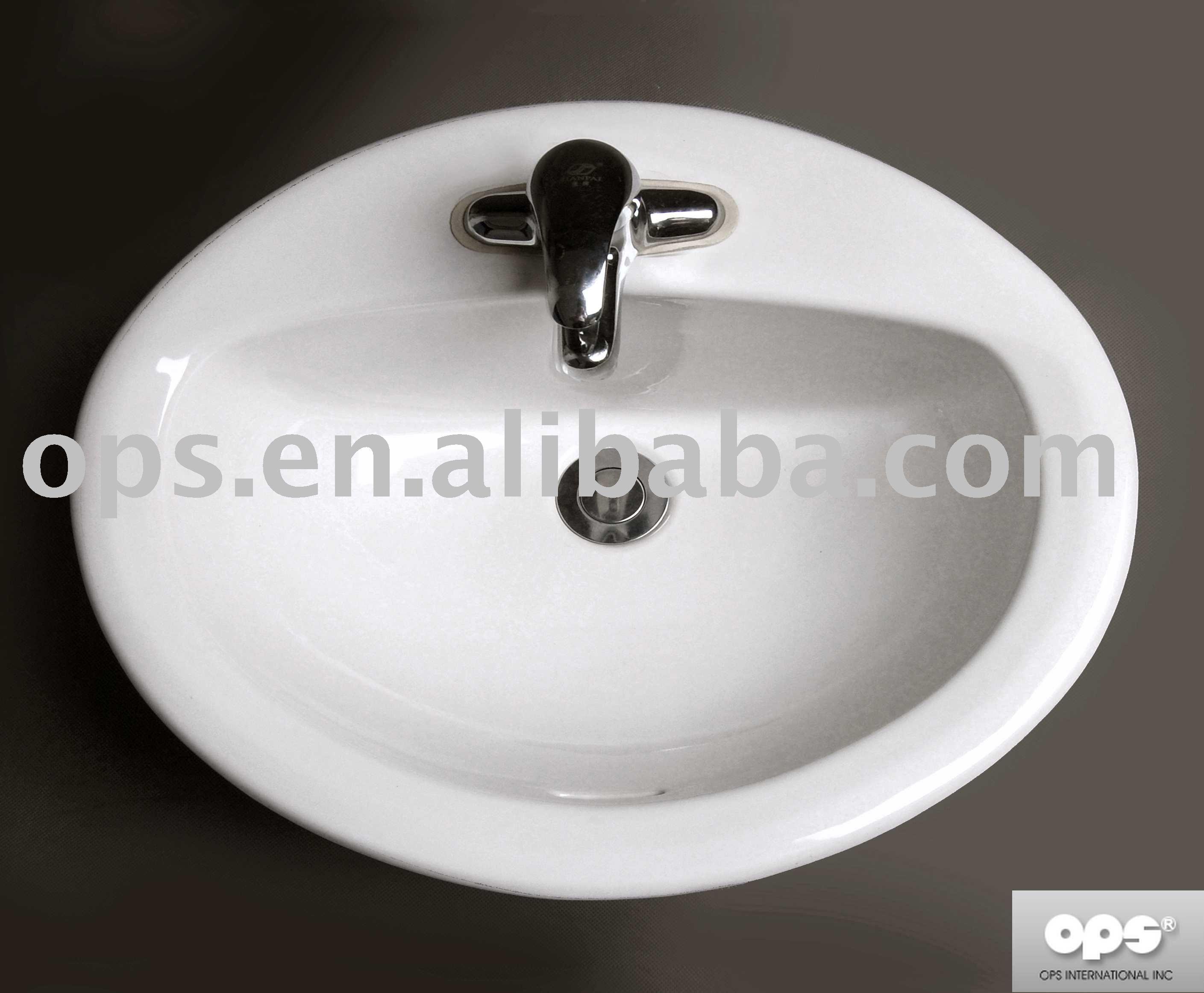Sanitary Ware Oval Drop in Lavatory Sink Buy Sink Bathroom