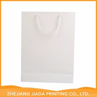 WHITE GLOSSY ART paper bag with logo print