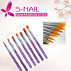 Hot selling 7 Pcs nail brush, acrylic nail brush, nail brush set