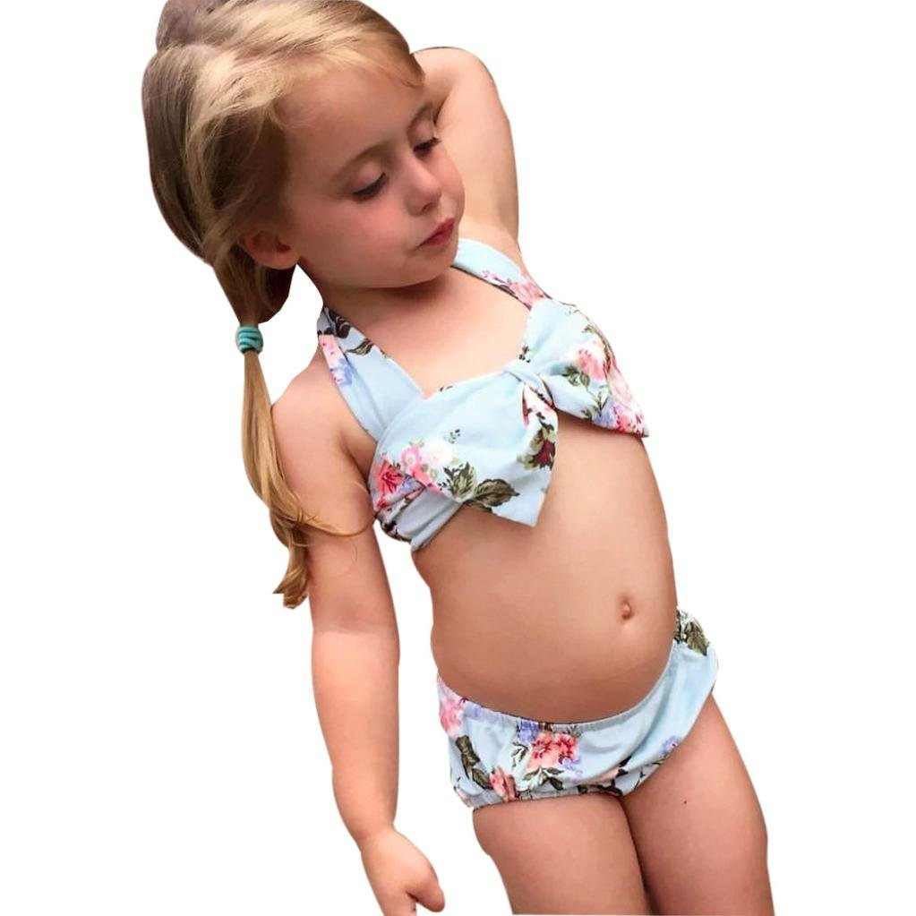 e03938c84e Get Quotations · Baby Girl's Swimwear, Summer Infant Baby Girl Floral Swimsuit  Swimwear Bathing Suit Bikini Set Clothes