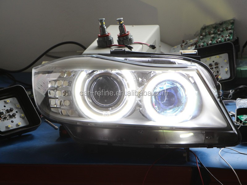 Canbus Error free H8 120W LED Marker Angel Eyes Headlight for BMW X5 E70 X6 E90 E91 E92 M3 E60 H8 LED Angel Eyes