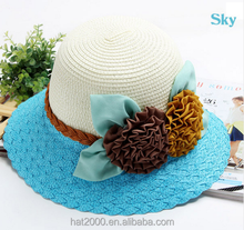 New Girl Summer Sun Hat Straw Woman Flower Hats Floppy Beach Hat
