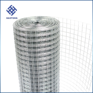 Free sample 1 inch galvanized welded wire mesh/welded rabbit cage wire mesh