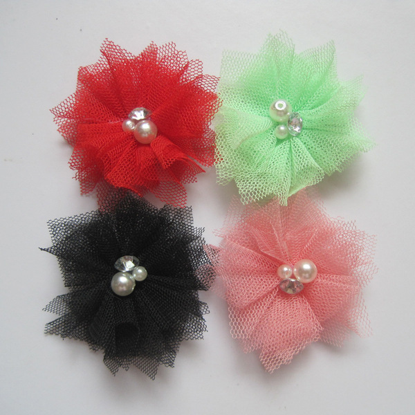 Wholesale Korea Style Small 6.5cm Diameter Cheap Flower For Garment Accessories, Handmade Fabric Flower Girl Brooch Accessories