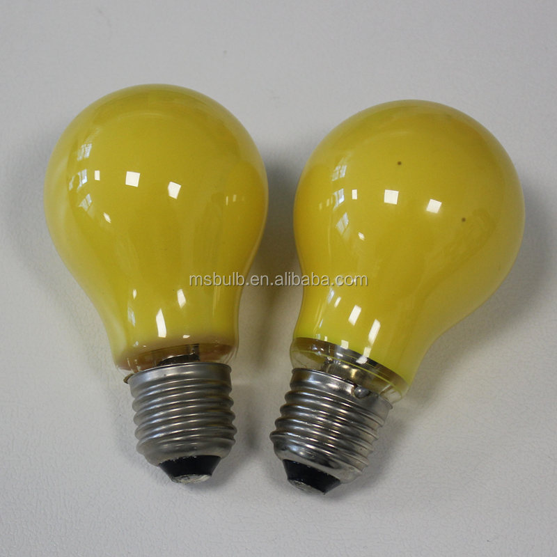 China Factory anti mosquito lamp A19 LED bulb E26 base yellow 590nm 110V