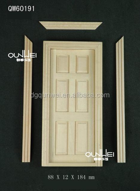 BNWT Casa de Muñecas en Miniatura 1//12th Escala de doble puerta de madera de 6 Paneles