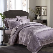 4 Piece Colorful silk/cotton blended bedding set in Queen size