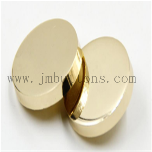 smooth shiny gold fix button for women jeans