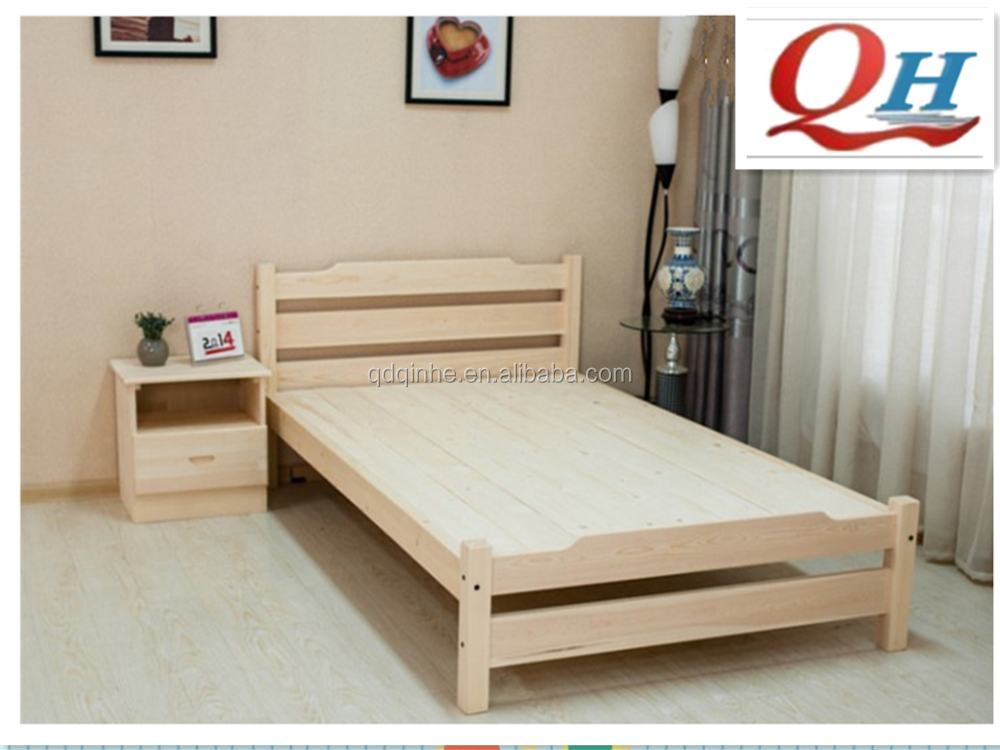 Solid Wood Child Single Bed Bedroom Simple Modern Single Bed