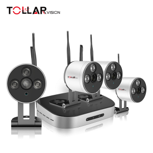 HD 1.0 Megapixel cctv wireless 4 CH NVR KIT with 4 mini cameras