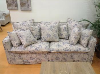 Bloemen Country Style Couch Woonkamer Sofa Met Kussens Verwijderbare ...