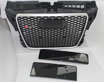 Abs Material Black Mesh Rs3 Style Front Grill For Audi A3 8p - Buy Front  Grill,Front Grill For Audi,Front Grill For Audi A3 Product on Alibaba com