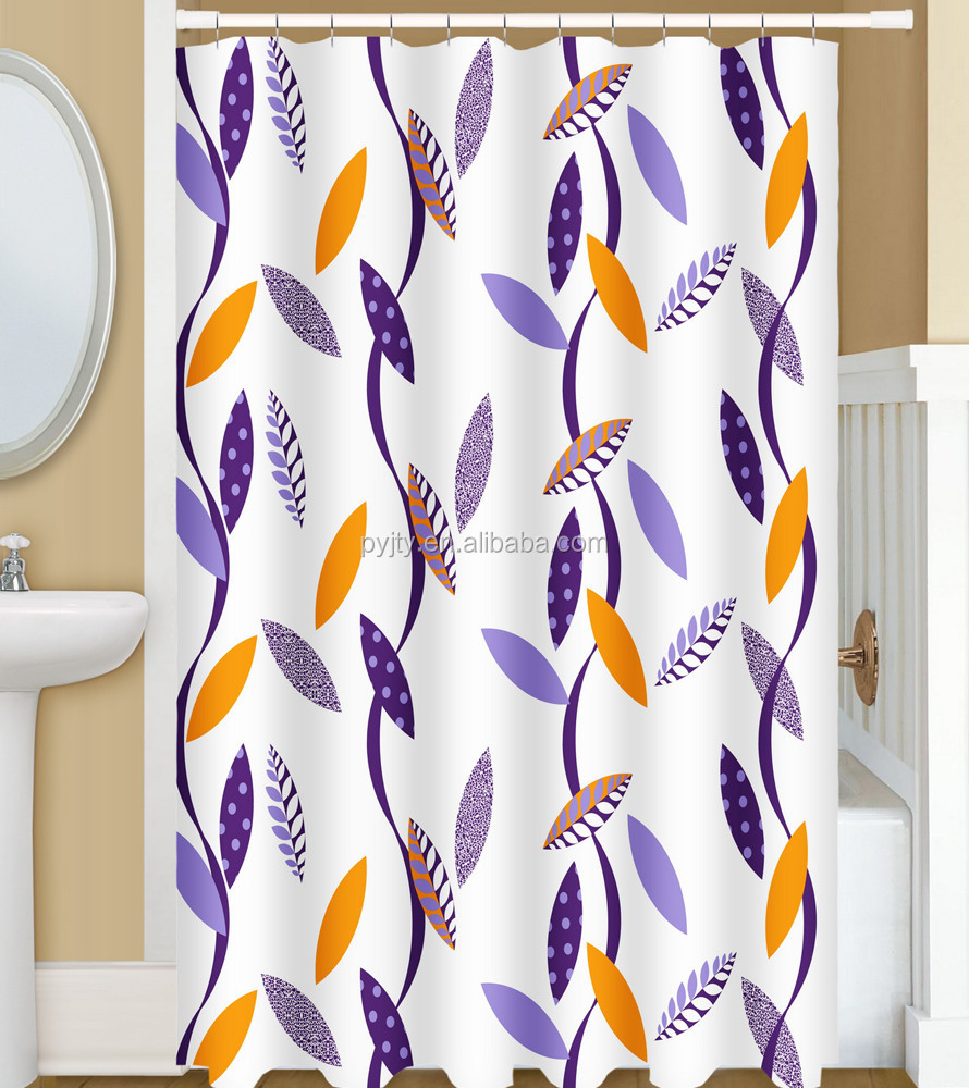 Leaf Pattern Shower Curtain, Leaf Pattern Shower Curtain Suppliers ...