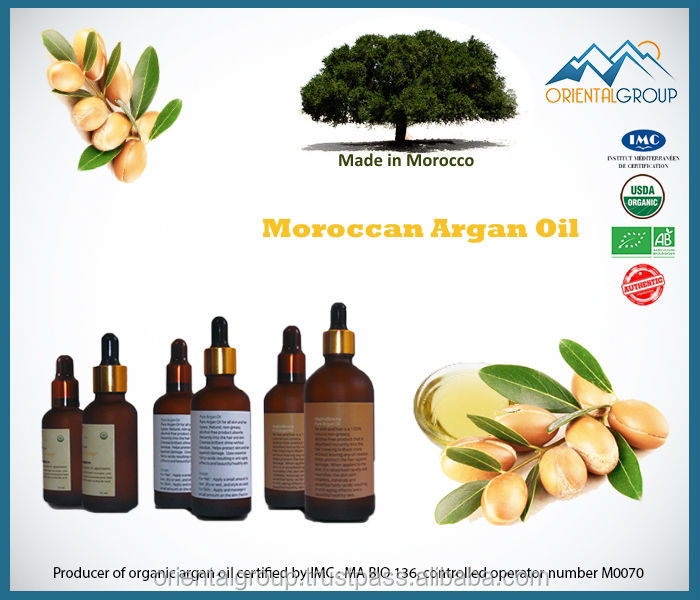 Cosmetic Argan oil with Basil flavor