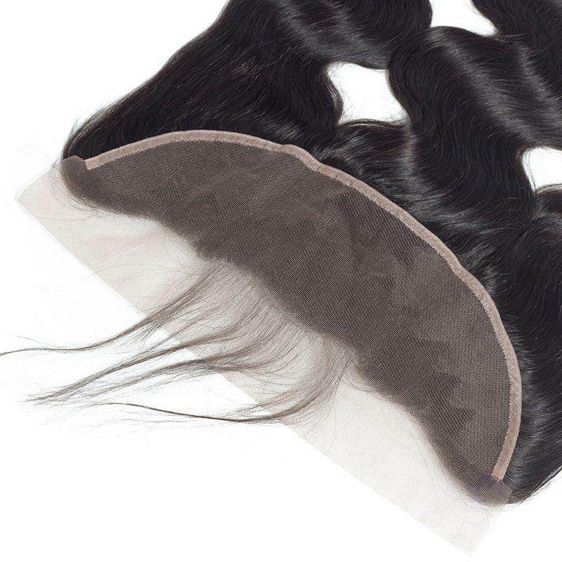 Pré Plumée Vague De Corps corps Ondulé Transparent Dentelle Frontale, Oreille à Oreille Dentelle Frontale avec Bébé Cheveux