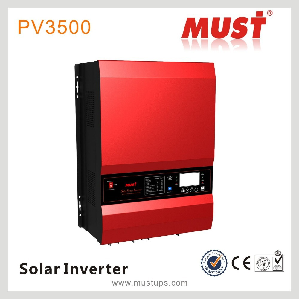 2015 pure sine wave 10 kw solar inverter DC/AC power inverter with MPPT solar charge controller