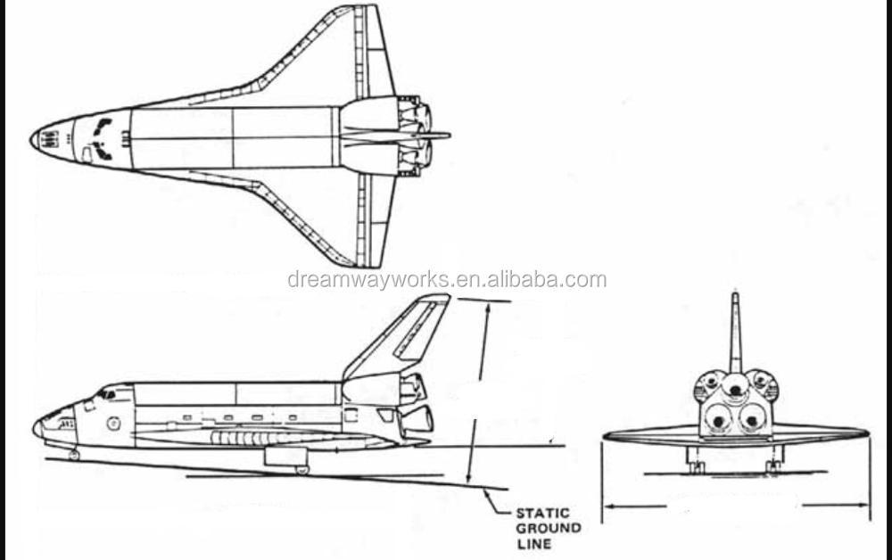 2018 Venta Caliente Inflable Gigante Del Transbordador Espacial Para ...