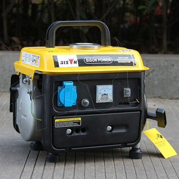 BISON CHINA 950 Small Portable Generator Manual Start, Mini Portable Gasoline Generator 650W,750W 2 Stroke Gasoline Generator
