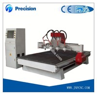 Four heads 3d cnc router, cnc wood cutter / engraver JPM1325 woodworking machine price