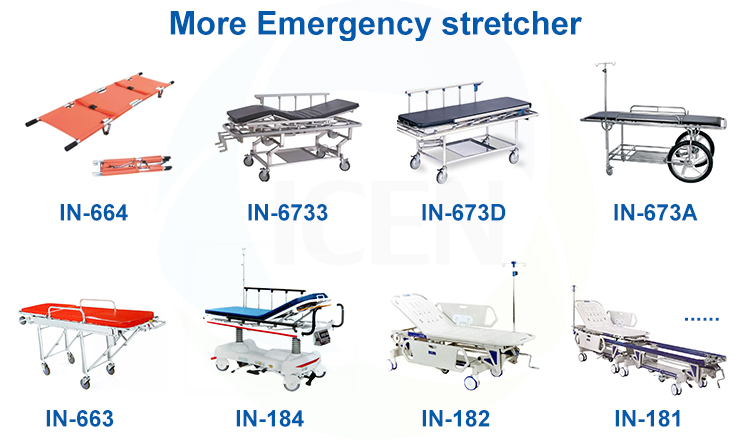 IN-633  Stainless Steel Clinical Hospital Examination  Couch Table With High Density Foam Mattress