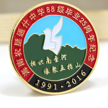 Hard Enamel Graduation Souvenir Badges For Student Celebration