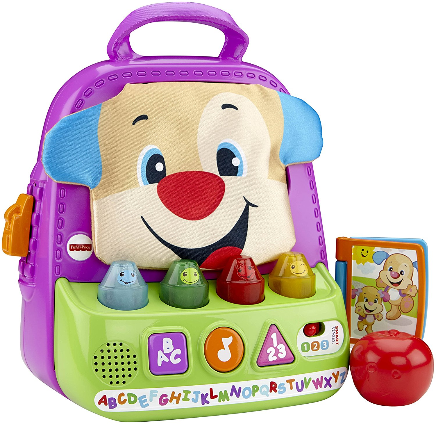 Fisher Price - Laugh & Learn Smart Stages Teaching Tote - Matcgv03 - Mattel - Bx-a4-12-t48
