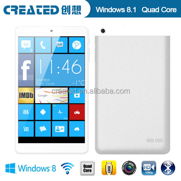 Quad Core 1.8GHZ 8 inch 1G RAM 16G 1280X800 windows tablet pc dual sim