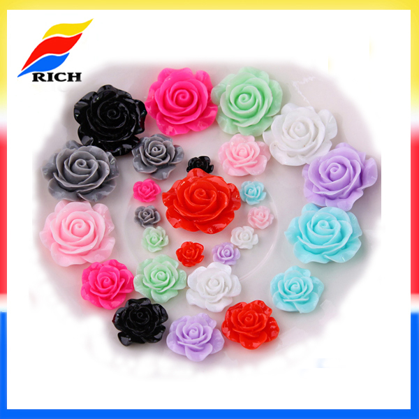 New arts crafts cheap resin artificial flowers wholesale for DIY decorative items 20 styles