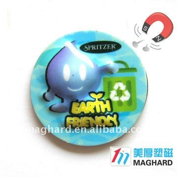 3D fridge magnet souvenir for earth friendly environmental protection