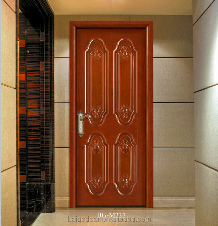 Bg m215 flat teak wood main door designs simple teak wood for Door models for house