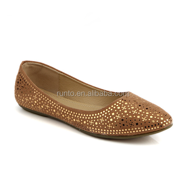 Fashion eva outsole PU shoes thailand low cut with ladies women flat shoes