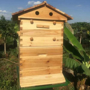 Bee Farm Application Honey Flow Frames/Hives Supplier Complete BPA FREE Plastic 7 frame auto flow bee hive for sales