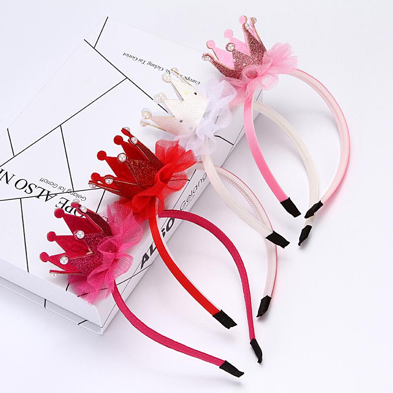 Kids Girl Baby Toddler Flower Crown Headband Hair Band Headwear Birthday Party L