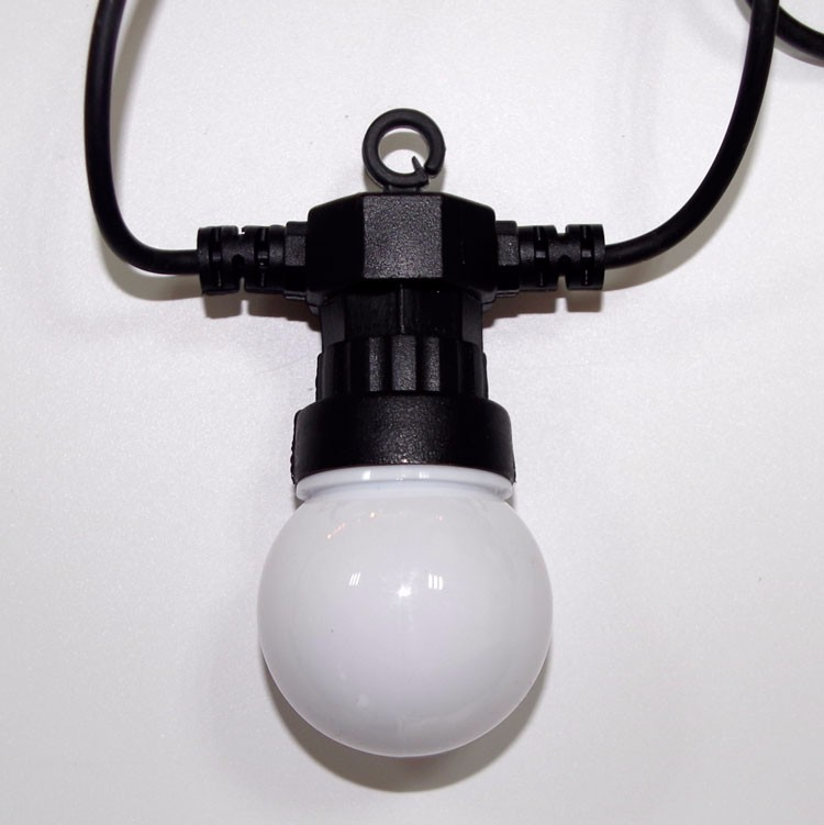 g50 garland with bulb led globe string light for outdoor. Black Bedroom Furniture Sets. Home Design Ideas