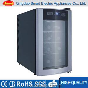High quality stainless steel mini wine bottle cellar with touch screen door and low noise