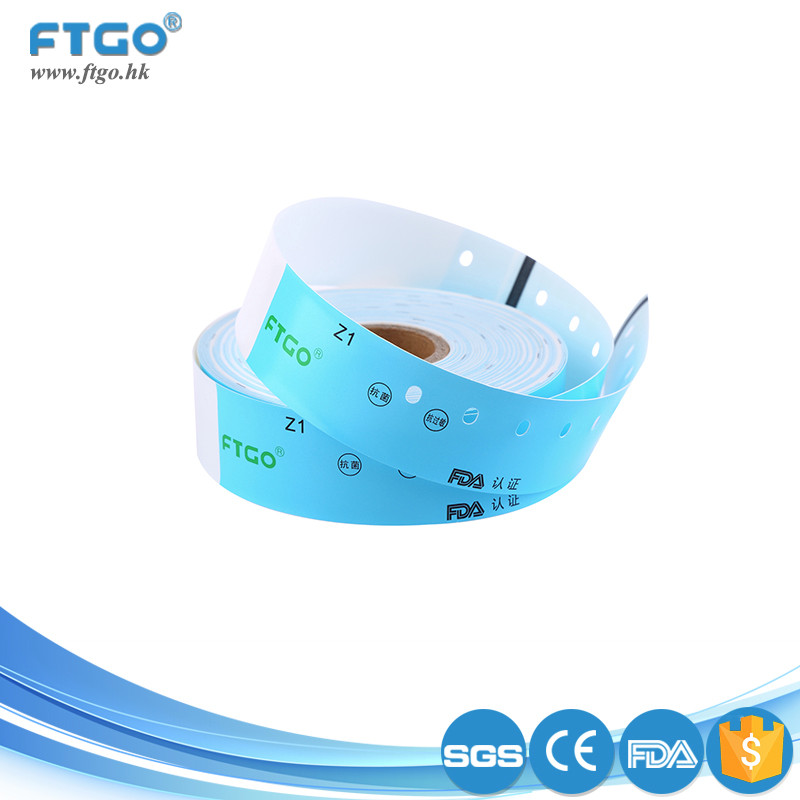 wholesale disposable healthy printing identification medical wrist band