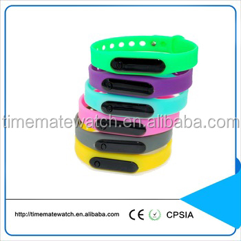 Colorful plastic rubber leather silicone material digital watch japan movement