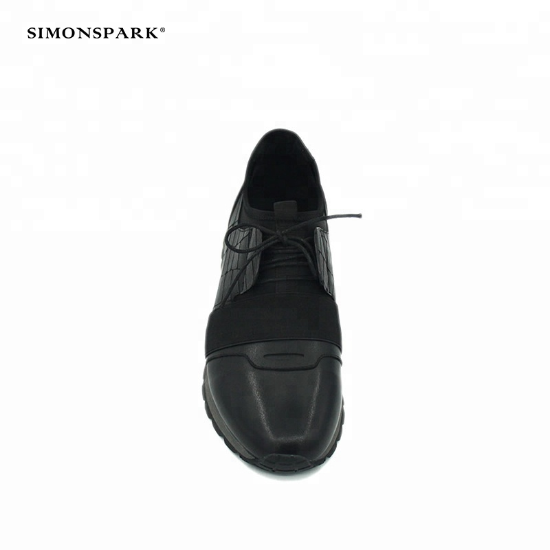 sport fashion sneakers latest design men casual black shoes leather Comfortable running 8xAZdqwgg