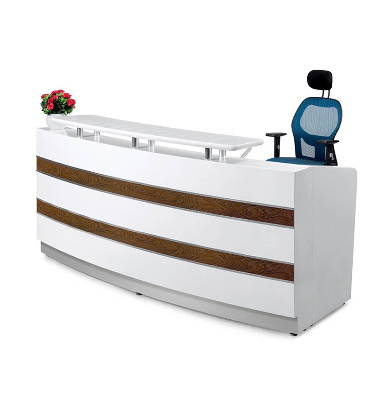 Cast Outlet Creative Office Furniture L Shaped Reception Counter